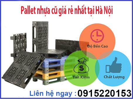 Pallet nhựa cũ giá rẻ nhất tại Hà Nội