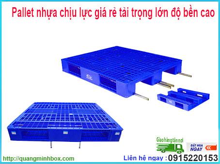 Pallet nhựa chịu lực giá rẻ tải trọng lớn độ bền cao