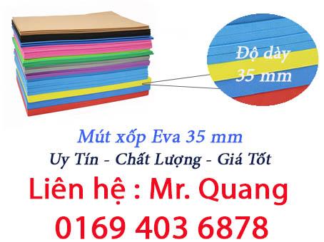Mút xốp Eva 35mm - Cao su xốp 35 ly dạng tấm và cuộn