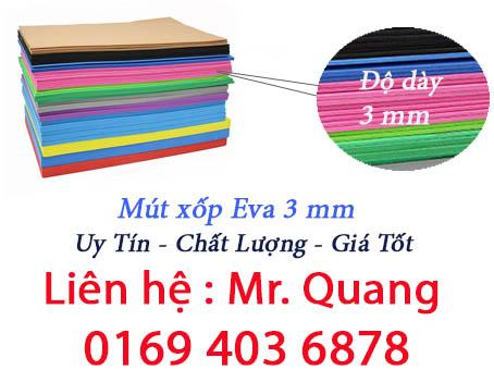 Mút xốp Eva 3mm - Cao su xốp 3 ly dạng tấm và cuộn