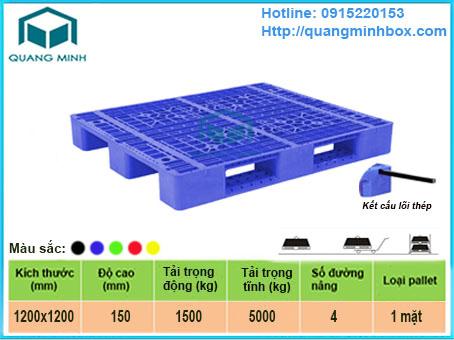 Mô tả: pallet-nhua-co-loi-sat-1200x1000x150mm-