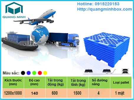 Lựa chọn Pallet nhựa dùng cho xuất khẩu phù hợp và tiết kiệm nhất